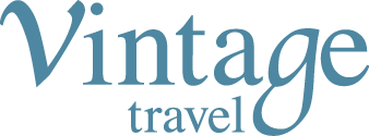 Vintage Travel logo.