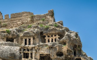 The beautiful ruins of Ancient Tlos