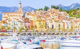 Town of Menton on the Cote de Azur