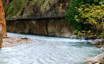 The great Saklikent Gorge from the bottom