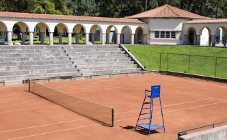 A tennis court in Portugal