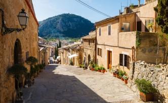 A street in Pollenca
