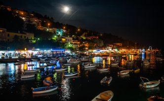 Rabac at night