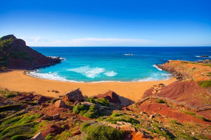 Cala Pilar beach in Menorca
