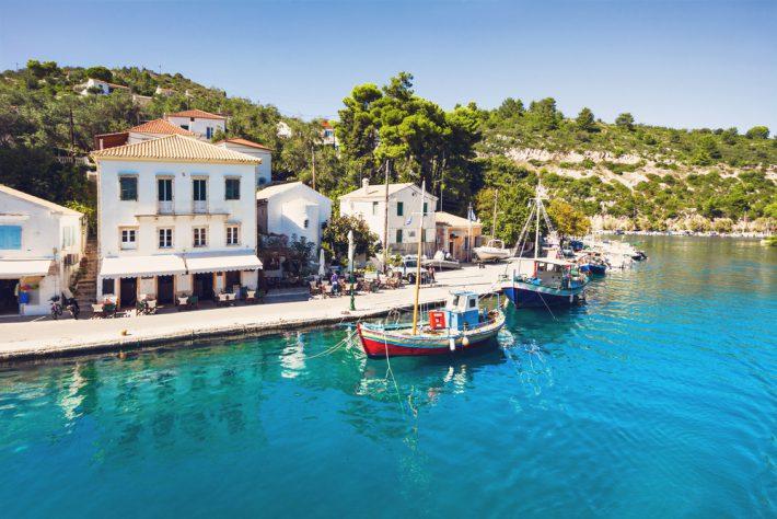 Gaios town, Paxos island, Greece
