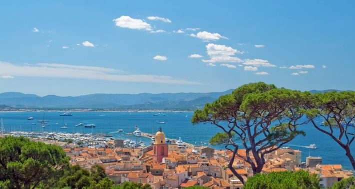 View over St Tropez