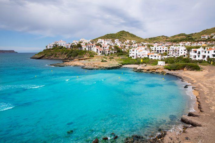 Beautiful view of Cala Fornells, seaside Majorca Spain, Balearic Islands.
