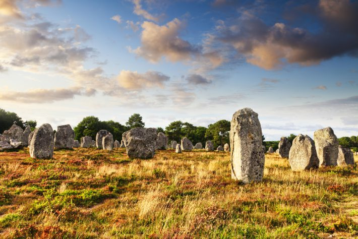 Standing stones at Carnac