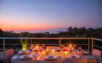 Villa Olivia sunset view