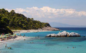 Milia beach, Skopelos, Sporades Island, Greece