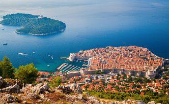 Dubrovnik medieval Old Town and Lokrum island