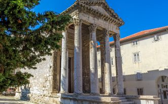 Roman temple of Augustus in Pula, Croatia.