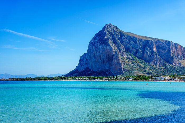 San Vito lo Capo beach and Monte Monaco, Sicily
