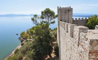 Fortress at Castiglione del Lago on the Shore of Lake Trasimeno