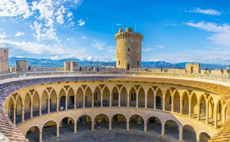 Castell de Bellver at Palma de Mallorca, Spain
