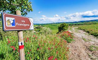 Via Francigena pilgrim path, Tuscany, Italy