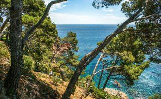 Cliffs of Cap Roig Botanical Garden, near Calella de Palafrugell