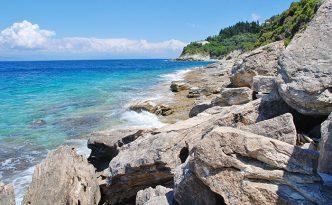 Lakka coastline, Paxos island