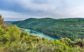Limski Kanal (Limski Fjord) in Istria near Rovinj. Adriatic Sea, Croatia.