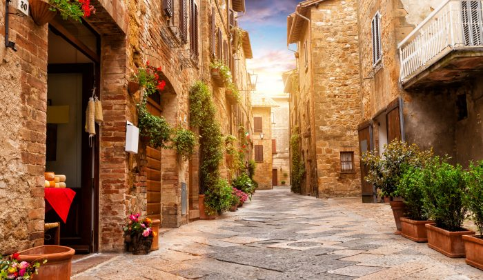 For history, art and culture check out the thriving Tuscan town of Pienza