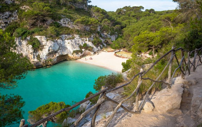 Spend a tranquil day on the beach at Menorca's Cala en Turqueta