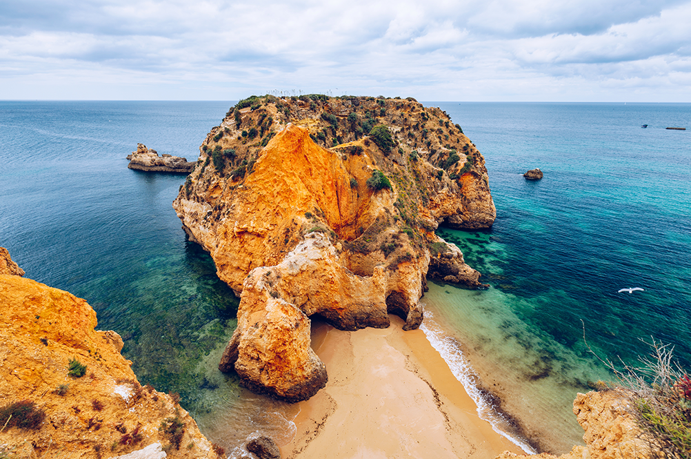 Three quiet coves on the Algarve