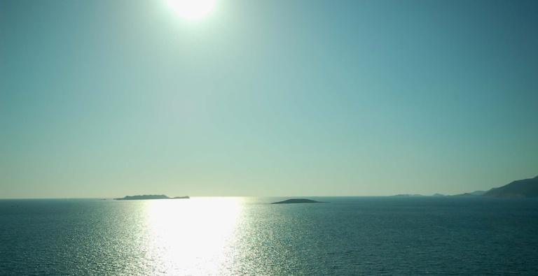Turkey seascape with island